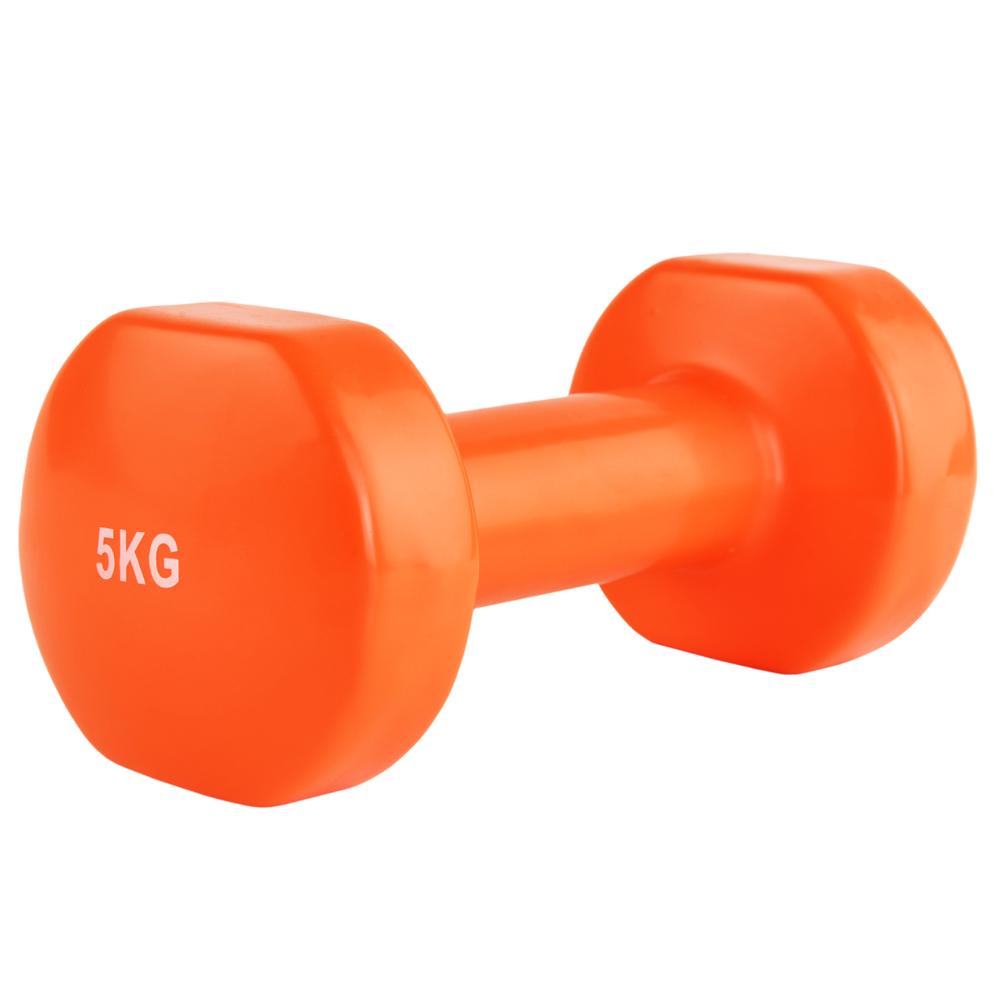 Гантели, гири: Гантель виниловая Stein 5 кг