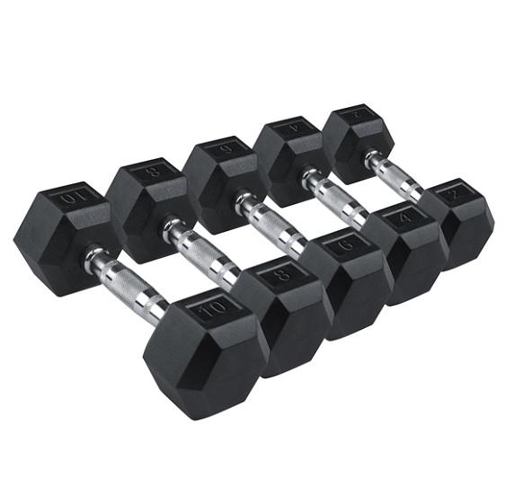 Гантели: Гантельный ряд гексогональных гантелей Stein 1-10 кг (10 пар)