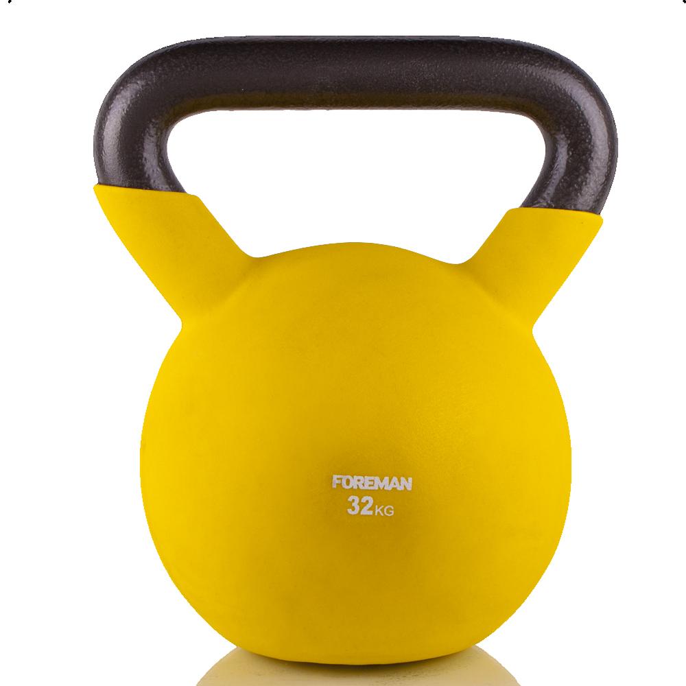 Гири: Гиря в неопреновой оболочке Foreman 32 кг