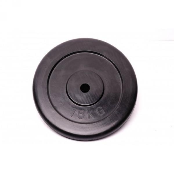 Диски: Диск Fitnessport обрезиненный черный 15 кг
