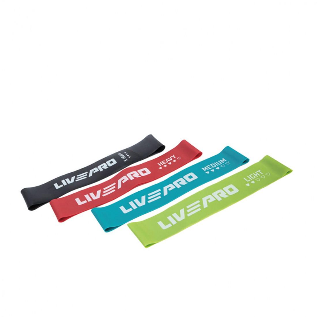 Резиновые петли: Набор фитнес резинок 4 шт LivePro