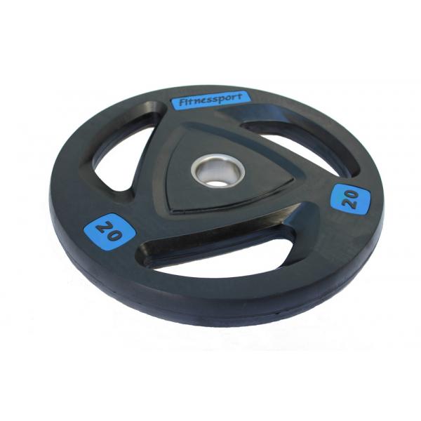 Диски: Диск олимпийский обрезиненный Fitnessport 20 кг