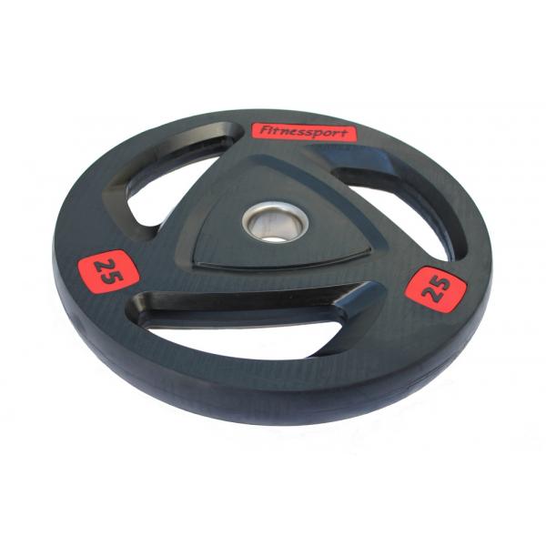 Диски: Диск олимпийский обрезиненный Fitnessport 25 кг