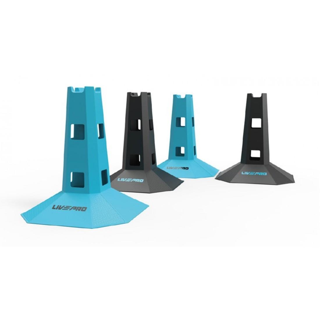 Инвентарь для кроссфит: Координационные конусы 4 шт. LivePro AGILITY DOT