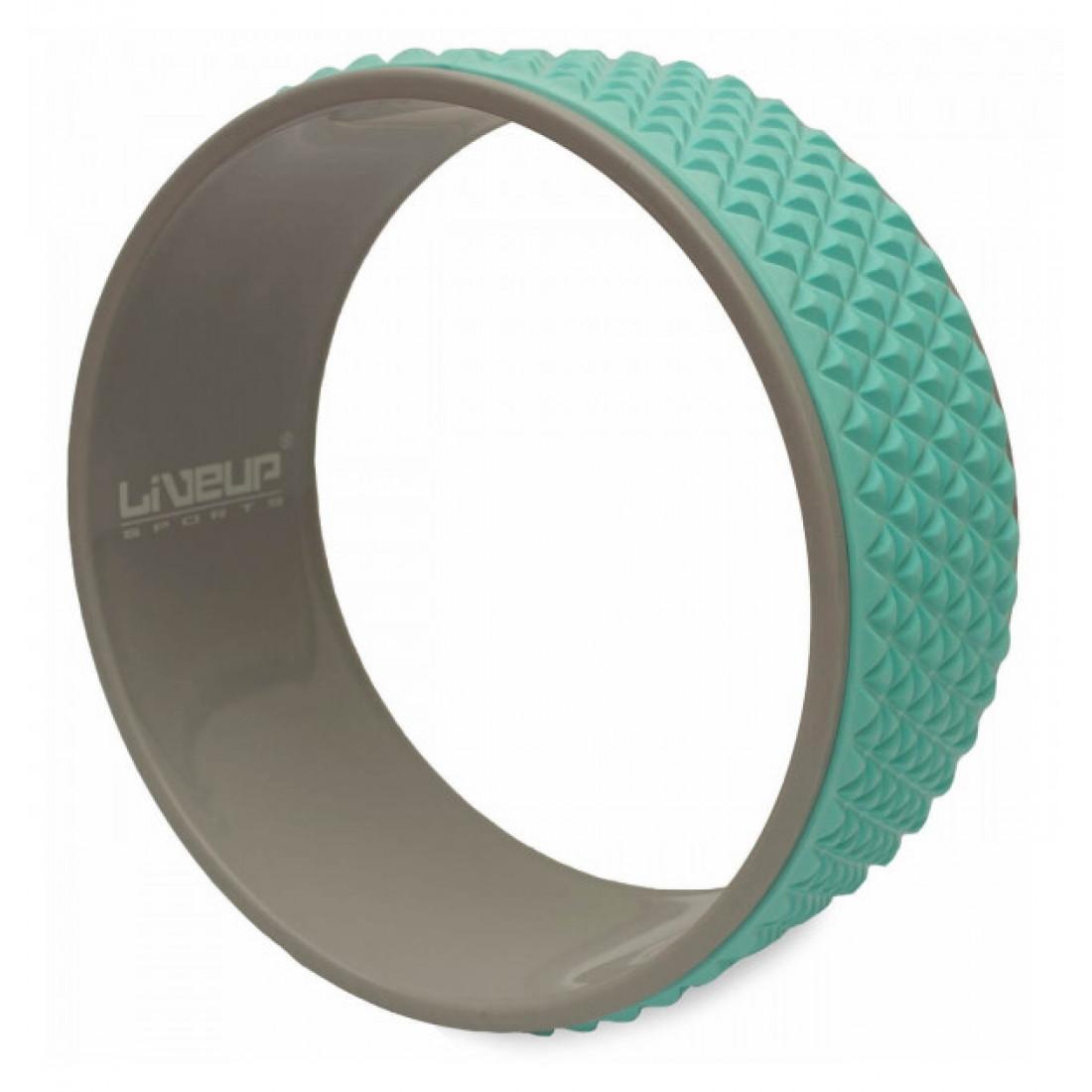 Йога: Колесо для йоги и фитнеса LiveUp YOGA RING серо/голубое