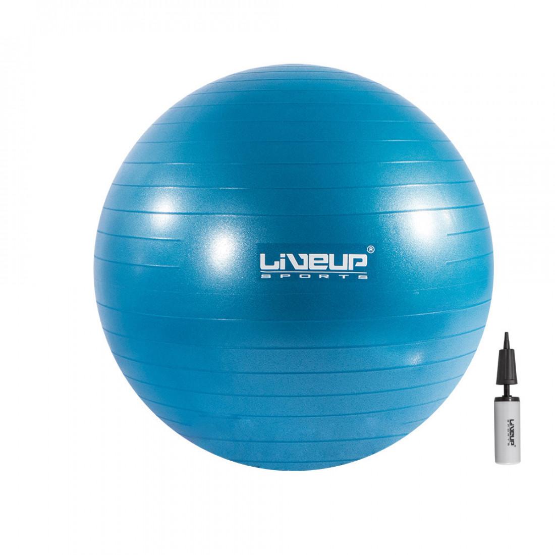 Фитболы: Фитбол (насос в комплекте) LiveUp ANTI-BURST BALL 55 см