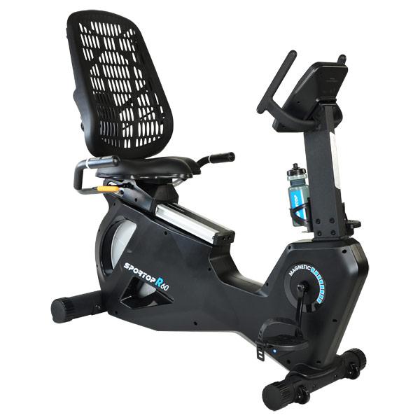 Горизонтальные велотренажеры: Горизонтальный велотренажер Sportop R60