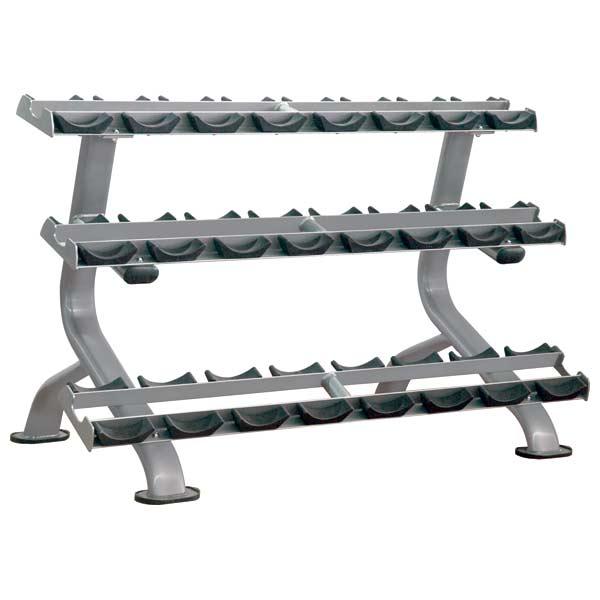 Стойки: Стойка для гантелей 12 пар IMPULSE Dumbbell Rack