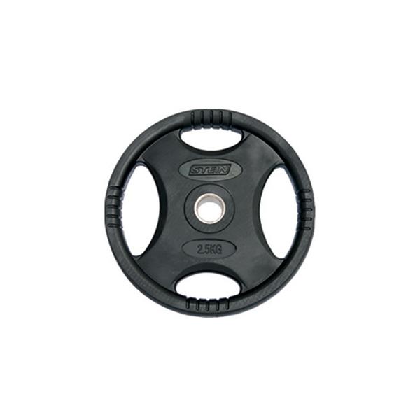 Диски: Диск обрезиненный черный Stein 2,5 кг