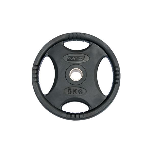 Диски: Диск обрезиненный черный Stein 5 кг
