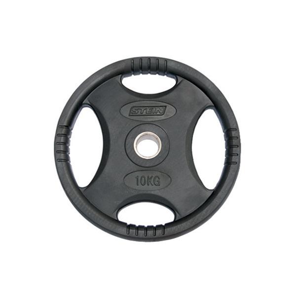 Диски: Диск обрезиненный черный Stein 10 кг