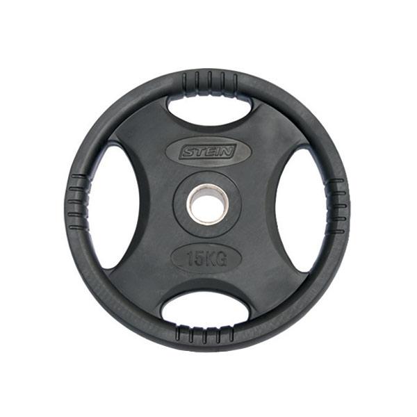 Диски: Диск обрезиненный черный Stein 15 кг