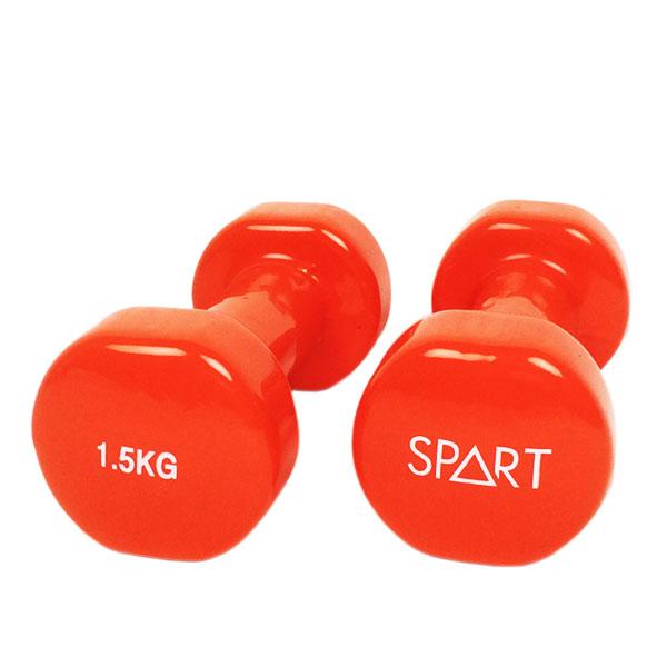 Гантели, гири: Гантели в виниле SPART 1,5 кг