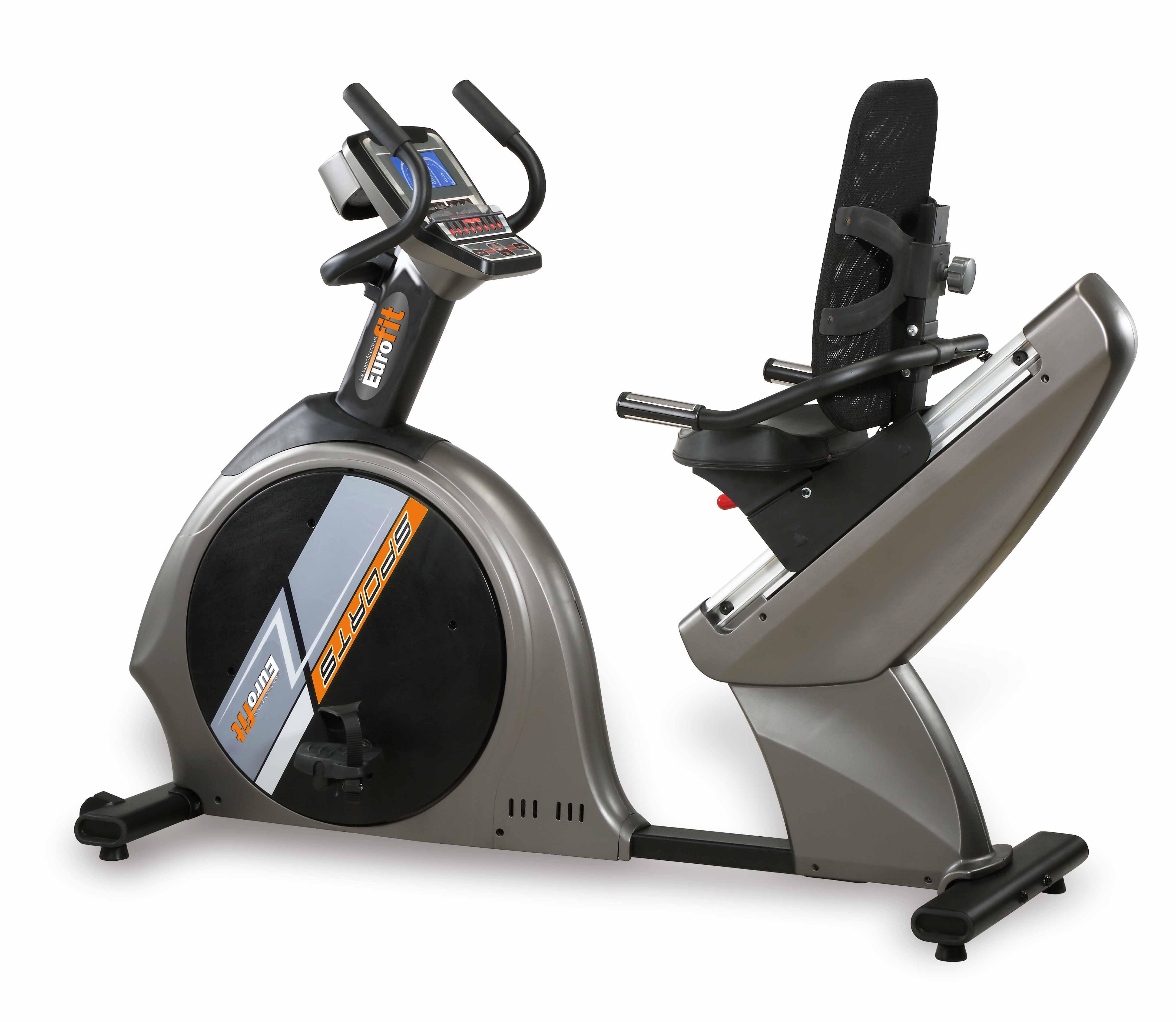 Велотренажеры: Велоэргометр горизонтальный Eurofit 8010