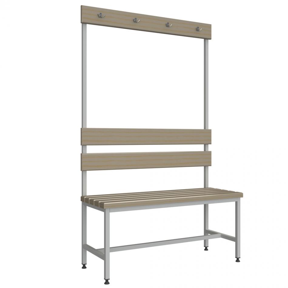 Лавки: Скамейка для раздевалки с вешалкой 1 м