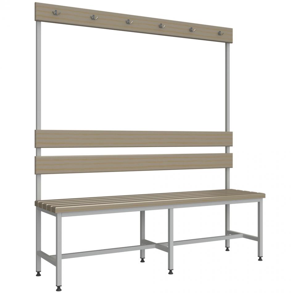 Лавки: Скамейка для раздевалки с вешалкой 1,5 м