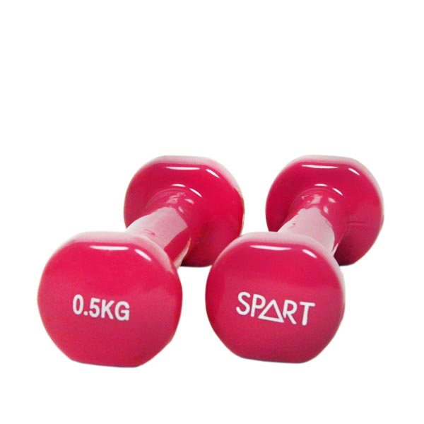 Гантели, гири: Гантели в виниле SPART 0,5 кг