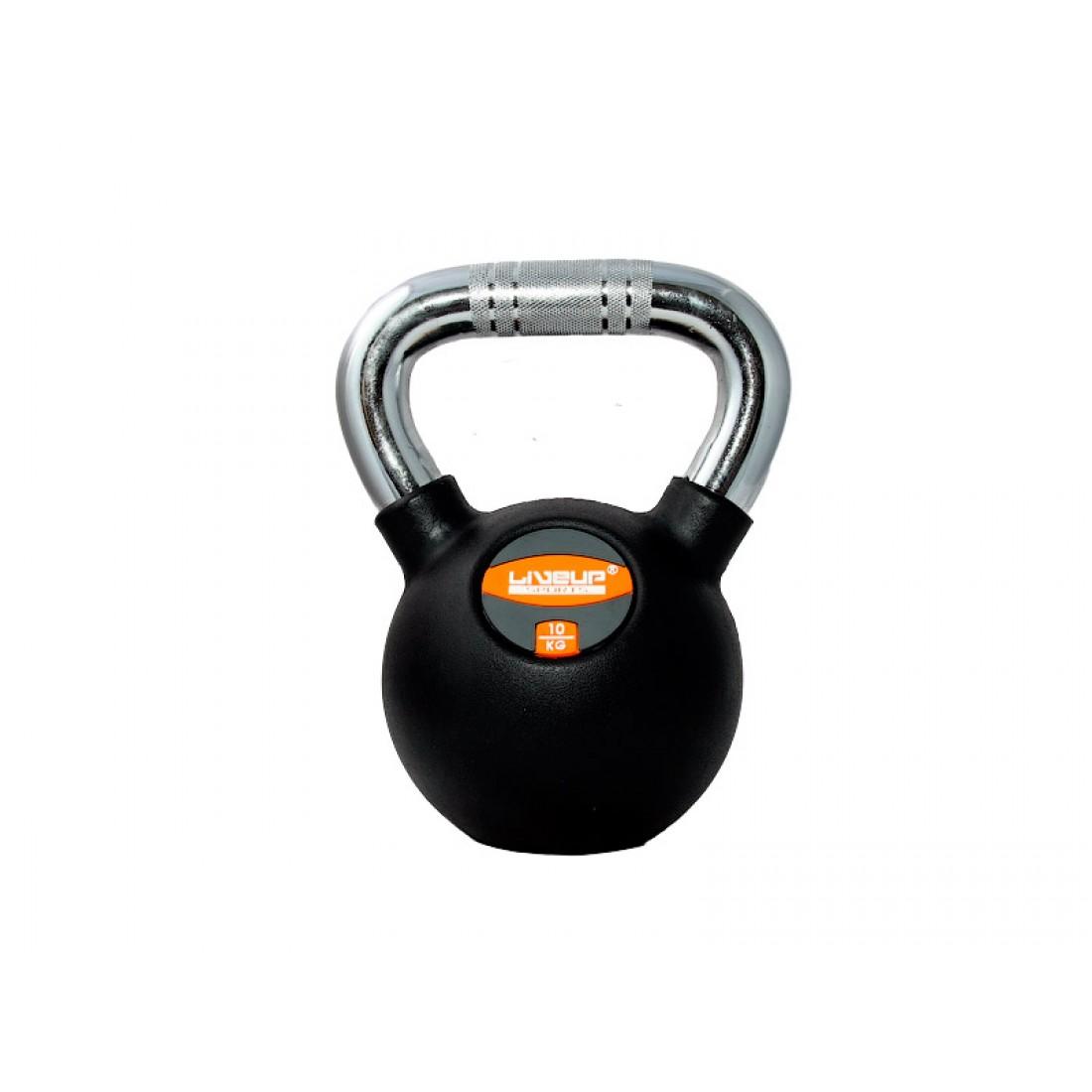 Гири: Гиря в резиновой оболочке LiveUp 10 кг