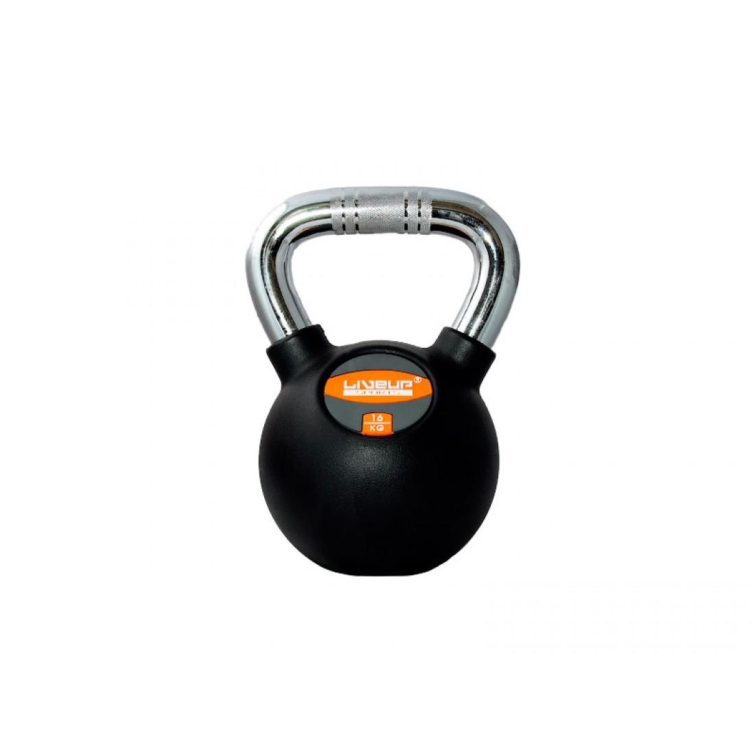 Гири: Гиря в резиновой оболочке LiveUp 16 кг