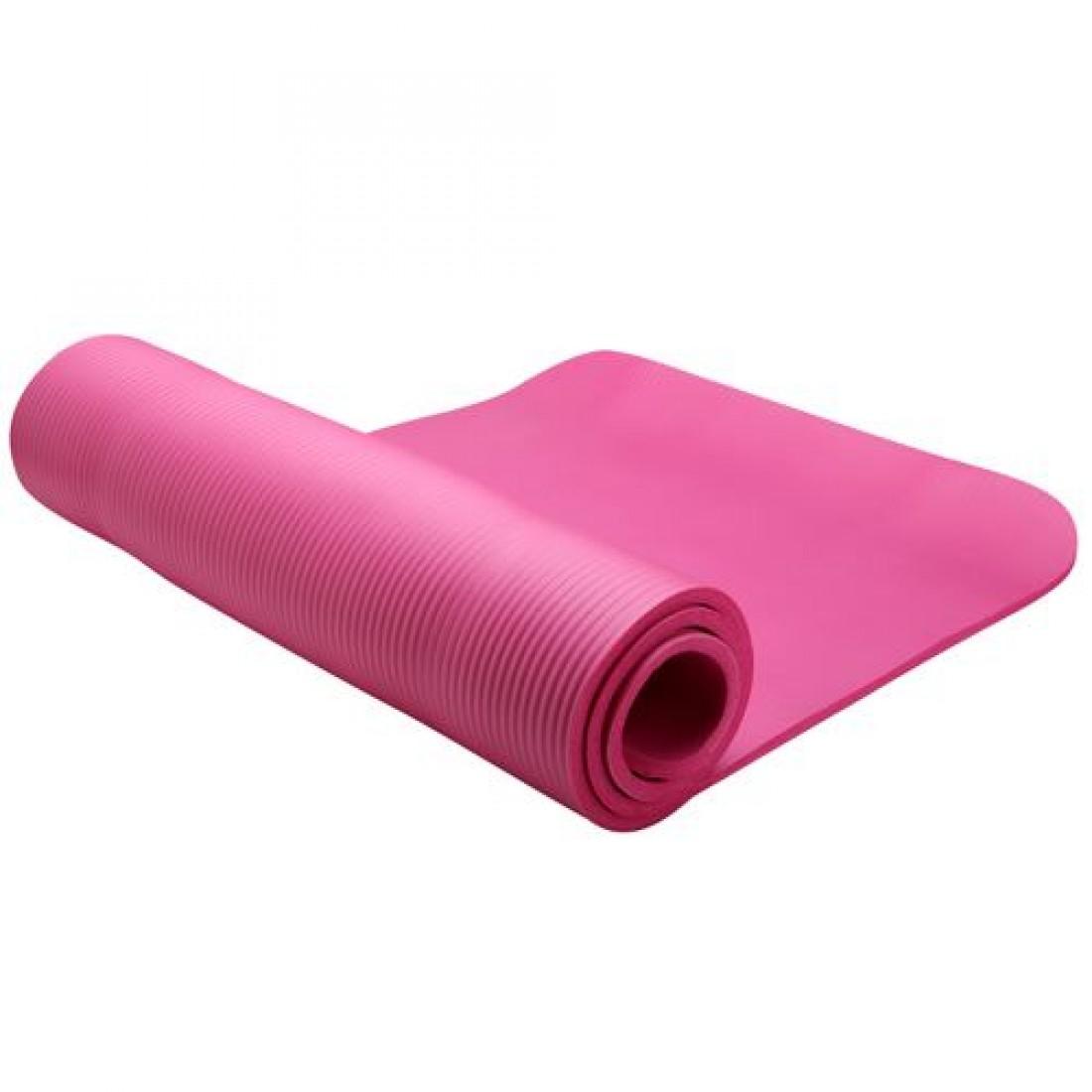 Коврики: Коврик для фитнеса LiveUp NBR MAT 12 мм розовый
