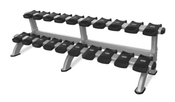 Стойки: Стойка для гантелей на 10 пар Nautilus 9NP-R8010