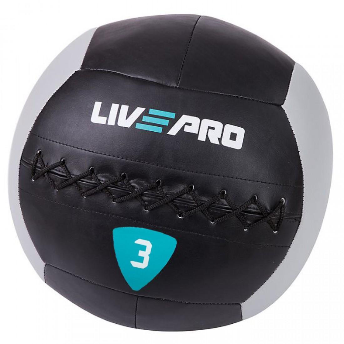 Медболы, Воллболы: Медбол/Воллбол LivePro WALL BALL/Soft Medicine Ball 3 кг