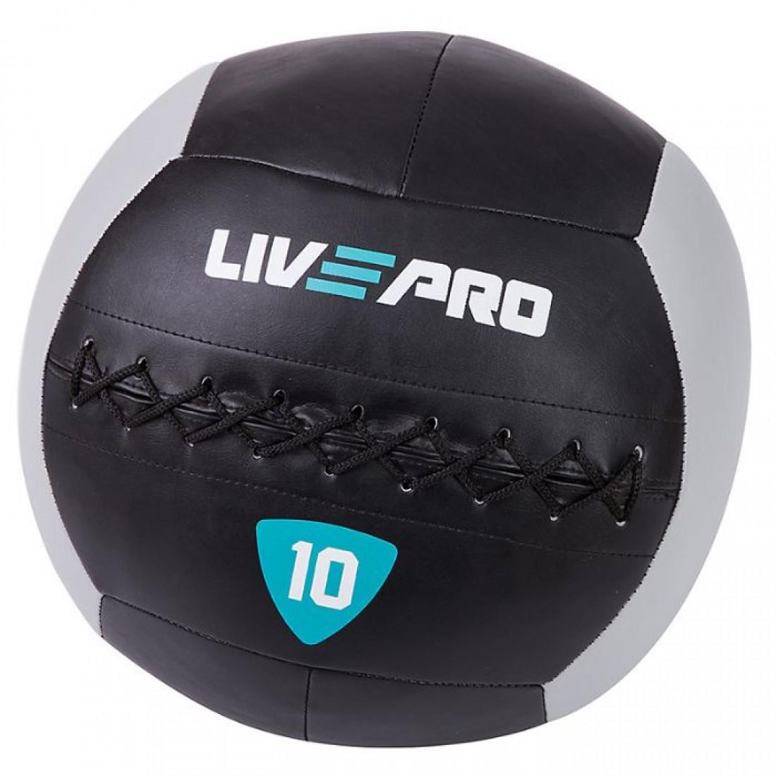 Медболы, Воллболы: Медбол/Воллбол LivePro WALL BALL/Soft Medicine Ball 10 кг