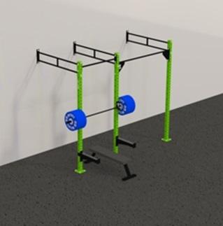 Рамы с креплением в стену: Пристенная кроссфит рама на 2 секции PR-2
