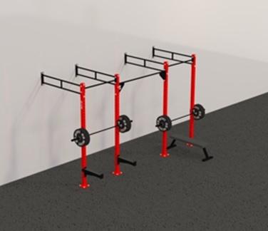 Рамы с креплением в стену: Пристенная кроссфит рама на 3 секции PR-3