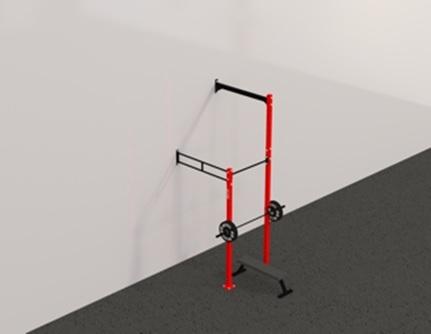 Рамы с креплением в стену: Пристенная кроссфит рама на 1 секцию с 1 креплением для колец