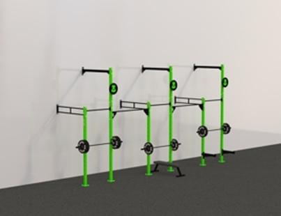 Рамы с креплением в стену: Пристенная кроссфит рама на 5 секции с 3 креплением для колец