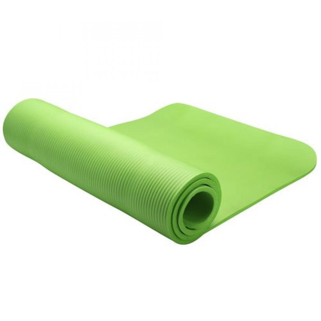 Коврики: Коврик для фитнеса LiveUp NBR MAT 12 мм зеленый