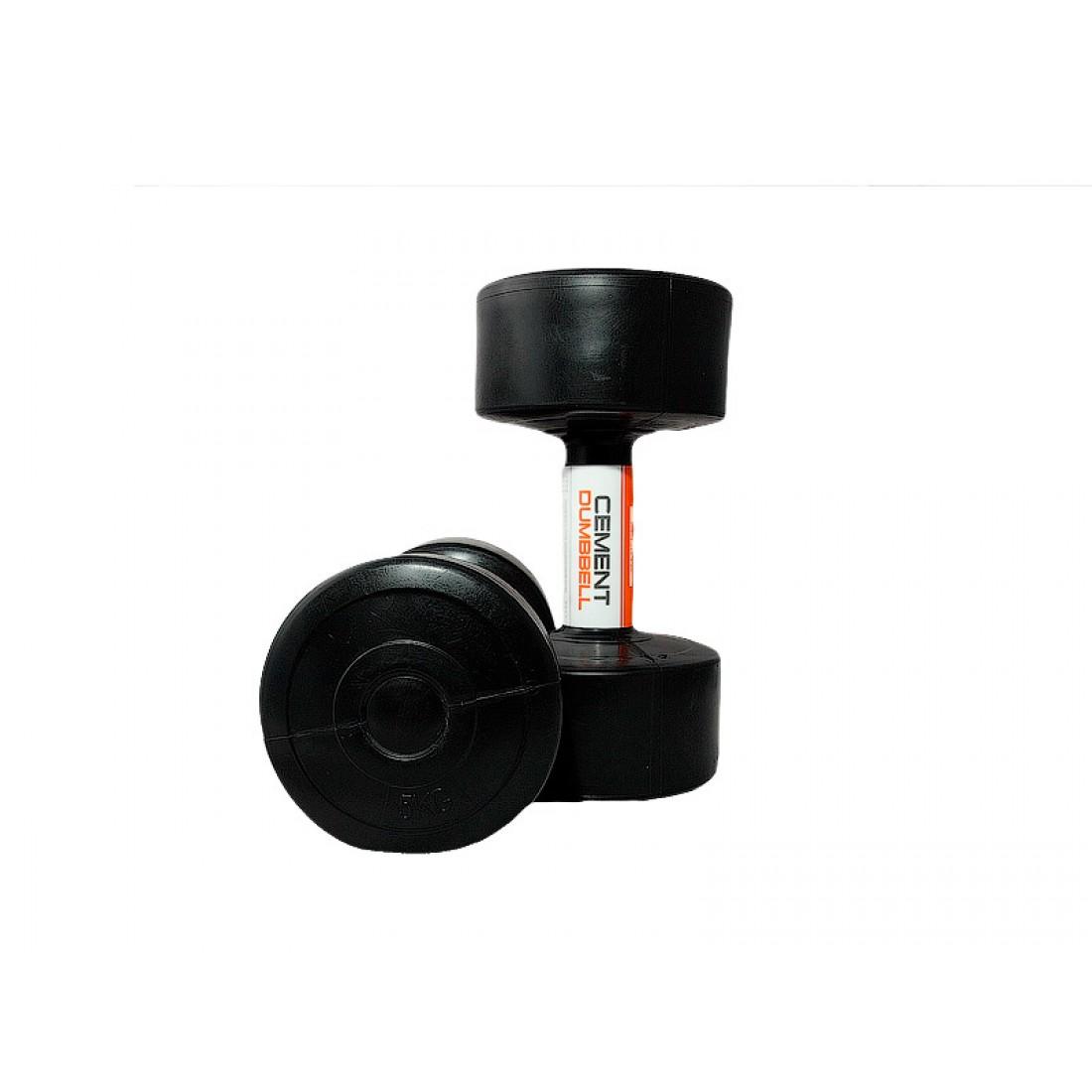 Гантели, гири: Гантели пластиковые LiveUp Cement 2х5 кг